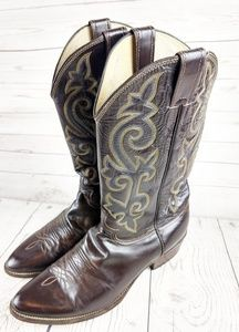 Justin classic western cowboy boots 1418 10.5